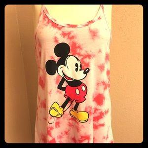🏰 Mickey Mouse Tye Dye Racerback Tank